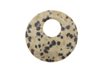 Dalmatian Jasper Off Center Donut 25mm