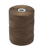 C-Lon Sepia Fine Weight (.4mm) Bead Cord
