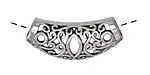 Antique Silver (plated) Filigree Arch Slide Focal 33x15mm