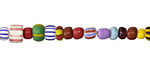 African Glass Rainbow Seed Bead Mix 4-5mm