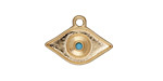 Zola Elements Matte Gold (plated) Evil Eye w/ Resin Turquoise Focal 21x15mm