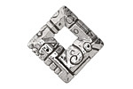Green Girl Pewter Mystic Squares 22mm