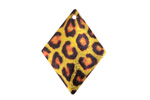 Leopard Etched & Printed Gold Finish Diamond Focal 22x29mm