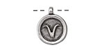 Greek Pewter Aries Pendant 15x18mm