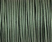 Ocean Green (metallic) Round Leather Cord 2mm