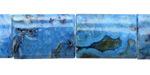 Larimar Blue Crazy Lace Thin Pillow 20x15mm
