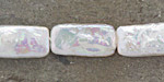 Pearly White Biwa Pearl Rectangle 19-20x10-11mm