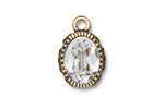 TierraCast Antique Gold (plated) Celestial Brilliance w/ Crystal Pendant 14x21.5mm