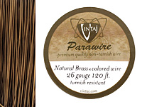 Vintaj Natural Brass Parawire 26 gauge, 120 feet
