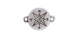 Greek Pewter Compass Link 21x15mm
