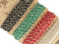 Metallic Rasta Glitter Hemp Twine 20 lb, 29.8 ft x 4 colors