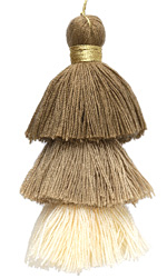 Sand Castle Mix 3-Tiered Tassel 75mm