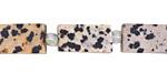 Dalmatian Jasper (matte) Brick 15-16x8mm