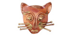 Patricia Healey Copper Cat Face 10mm Flat Slide 25x22mm