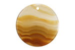 Natural Agate Thin Coin Pendant 30mm