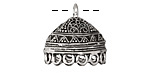 Zola Elements Antique Silver (plated) Lace Dome Tassel Cap w/ Loops 20mm