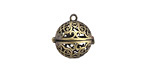 Antique Brass (plated) Scrollwork Diffuser Locket 17x18mm