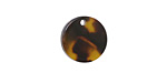 Zola Elements Tortoise Shell Acetate Coin Charm 14mm