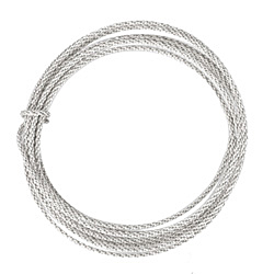 Braided Artistic Wire Tarnish Resistant Silver 14 gauge, 5 feet