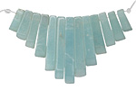 Amazonite Stick Bib Pendant Set Graduated 4x12-29mm