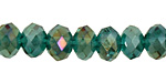 Emerald AB Crystal Faceted Rondelle 8mm