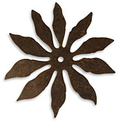 Vintaj Natural Brass 10 Petal Cutout Flower 56mm