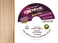 "Soft Flex Extreme Champagne .019"" (Medium) 19 Strand Wire 10ft."