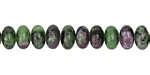 Ruby Zoisite Rondelle 8mm