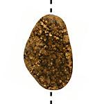 Metallic Gold Colored Druzy Freeform Piece 26-3x17-27mm
