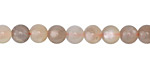 Moonstone (gray) Round 6-7mm