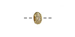 Gold (plated) CZ Micro Pave Rondelle 8mm