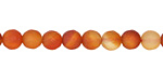 Carnelian (natural, matte) Faceted Round 6mm