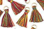 Rainbow w/ Jump Ring Thread Tassel 20mm