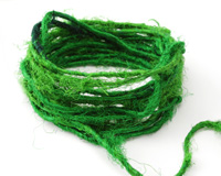 Kelly Green Recycled 100% Silk Sari Yarn