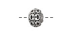 Greek Pewter Fancy Ball Spacer 10x13mm