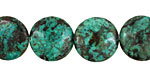 African Turquoise Puff Coin 18mm