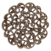 Vintaj Natural Brass Round Layering Filigree 54mm