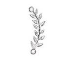 Nunn Design Sterling Silver (plated) Left Leaf Connector 33x8mm