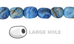 Larimar Blue Crazy Lace Agate (Matte) Nugget (Large Hole) 10x8mm