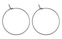 Antique Silver (plated) Hoop Earwire 30mm