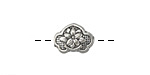Zola Elements Antique Silver (plated) Floral Bead 13x10mm