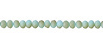 Matte Turquoise w/ Bronze Luster Crystal Faceted Rondelle 4mm