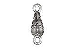 Zola Elements Antique Silver (plated) Woven Drop Link 10x32mm