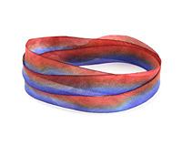 "Indigo Earth Hand Dyed 100% Silk Ribbon 7/16"""