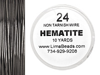 Parawire Hematite 24 gauge, 10 yards