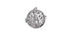 Silver Finish Tree of Life Diffuser Locket 17x18mm