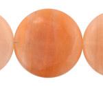 Peach Jade (nat.) Puff Coin 40mm