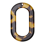 Zola Elements Tortoise Shell Acetate Oval Donut 27x44mm