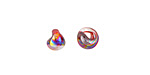 Unicorne Beads Luster Dark Rainbow Mini Teardrop 6-7mm