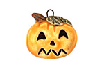 Earthenwood Studio Ceramic Spookyhead Punkin Pendant 23mm